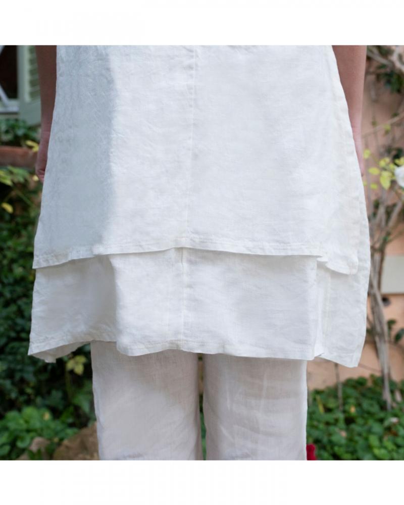 tunica abito marina encaje