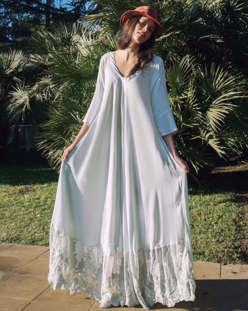 abito alassio vestido viscosa encaje